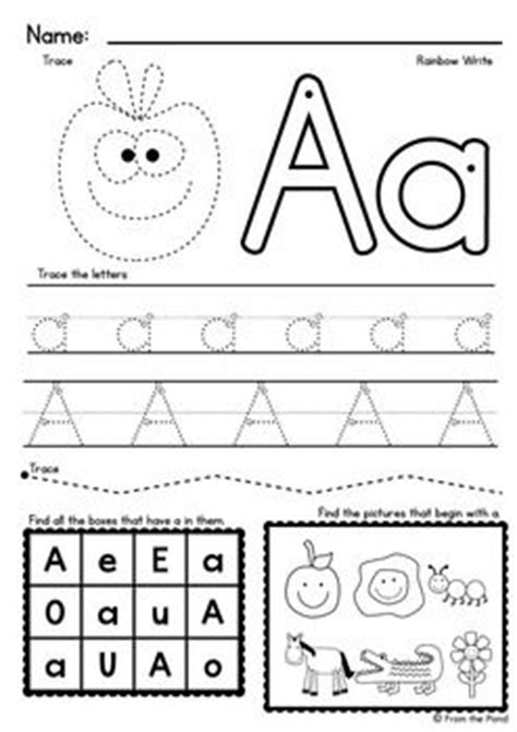 alphabet worksheets  images alphabet preschool