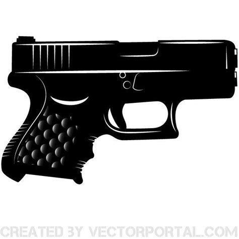 Pistol Clipart Glock Pistol Vector Clip Various Vectors