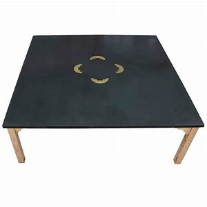 fabulous italian brass and slate square modern coffee With square slate coffee table