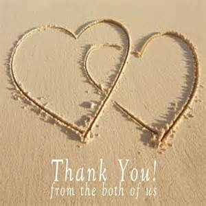 blank wedding invitations hearts in sand thank you