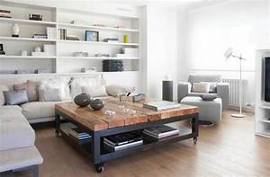 table basse moderne bois massif deco maison moderne With couleur qui va avec le gris clair 2 le canape poltronesofa meuble moderne et confortable