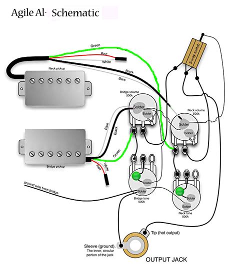 wiring diagram guitar wiring diagram 2 humbucker 1 volume