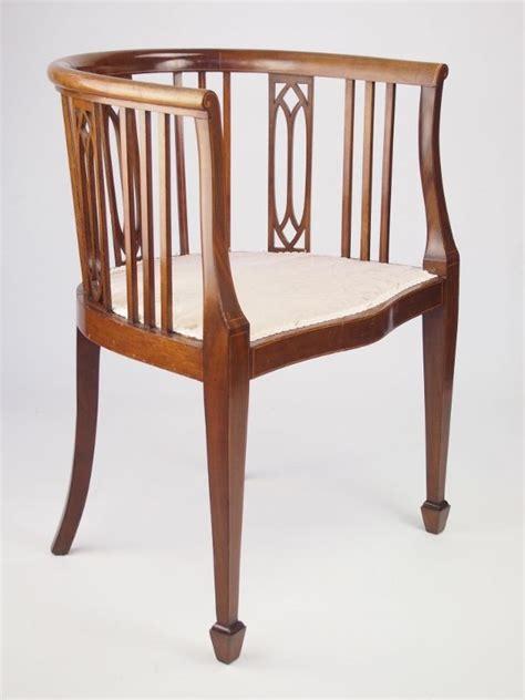 vintage tub chairs antique edwardian tub chair antique mahogany tub chair 3262