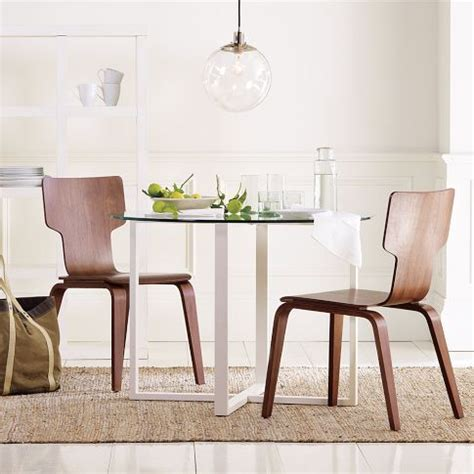 stackable chairs chairs and west elm on