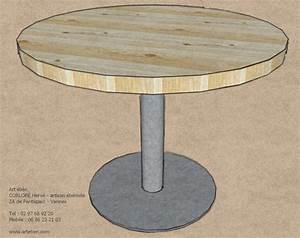 Table Ronde Aluminium : table ronde esprit industrielart 39 b n ~ Teatrodelosmanantiales.com Idées de Décoration