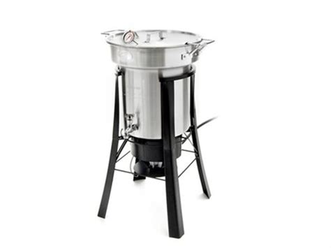 Water Hose Stand by North American Outdoor 35 Quart Saf T Cooker Turkey Fryer