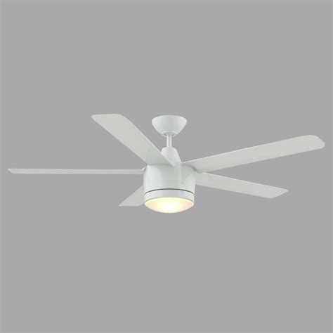 home depot white ceiling fan with remote home decorators collection merwry 52 in led indoor white
