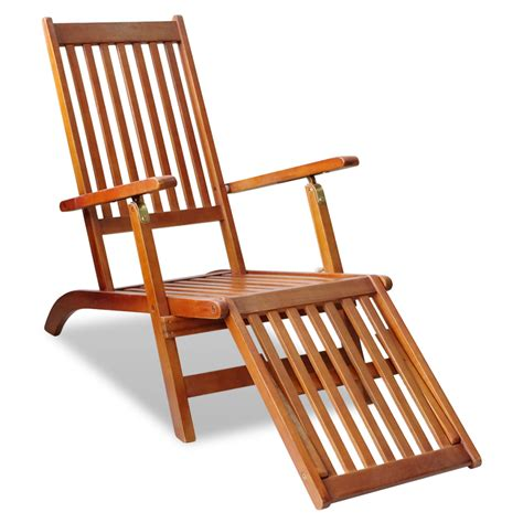 vidaxl co uk outdoor deck chair with footrest acacia wood