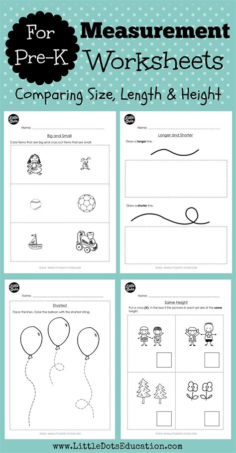 Download Worksheets And Activities To Compare Size, Length And Height This Set Helps You Teach
