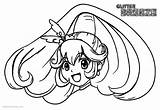 Glitter Force Coloring Pages Line Drawing Printable Head Adults sketch template