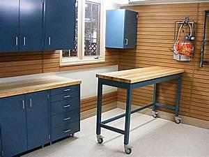 Garage Blue Color of Garage Shelves Made from Metal