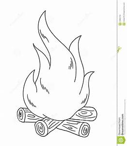 Black and white - fire stock illustration. Illustration of ...