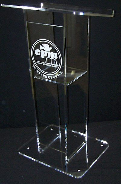 purple table runners curtis products cone shape acrylic podium