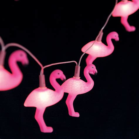dotcomgiftshop string of 10 flamingo lights pink flamingo