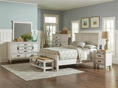 bed and dresser set coaster 205331 antique white king bedroom set in myrtle 14133