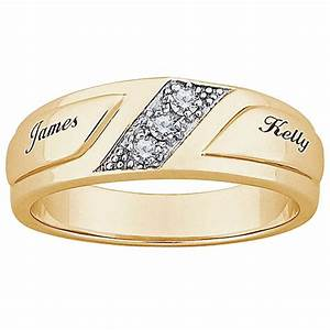 gold wedding ring with name engraved With wedding ring with name engraved