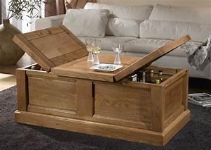 Acheter votre table basse pied v 1 allonge chez Simeuble