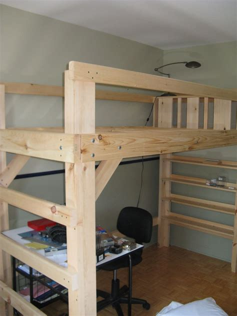 college bed loft twin xl kids rooms adult loft bed