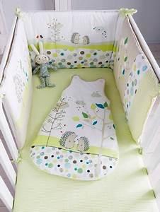 Linge De Lit Bébé Garçon : tour de lit b b brod pic nic vert vertbaudet ~ Melissatoandfro.com Idées de Décoration