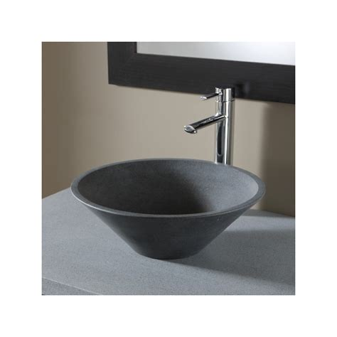 achat vasque a poser en grise vasques de forme ronde
