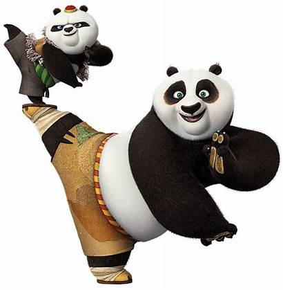 Panda Fu Kung Clipart Clip Po Transparent