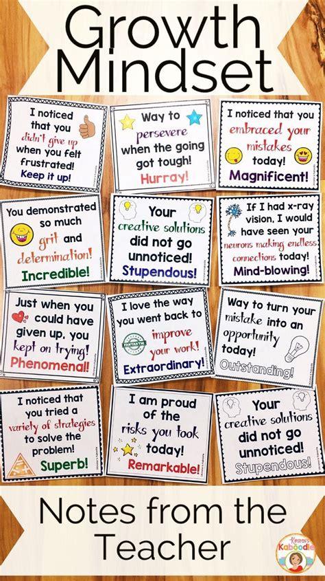 growth mindset notes   teacher flip books