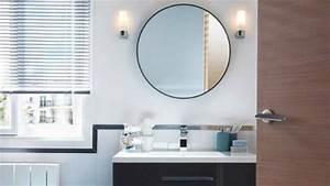 Miroir Rond Salle De Bain : mod les de miroirs ronds pour la salle de bain ~ Nature-et-papiers.com Idées de Décoration