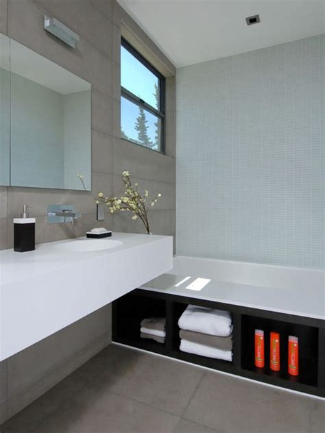 Modern Bathroom In by Five Great Bathroom Storage Solutions