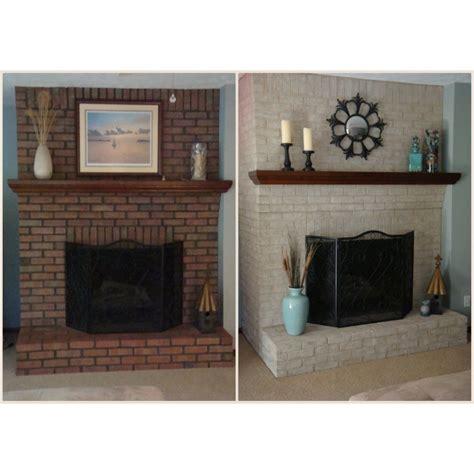 Fireplace Paint Kit Lighten Brighten Old Brick Fireplaces