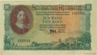 10 rand afrique du sud 1961 p 106a ttb b97 3457 billets