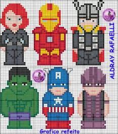 Avengers Perler Bead Pattern