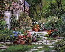 Visiting  Susan Rios Paintings Dreamy Floral Garden Path 5  Wallcoonet