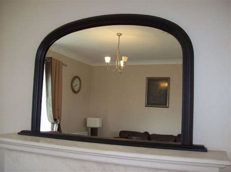 Silver Mirrors For Bedroom by Large Black Arched Over Mantle Mirror 47x31 120cm X 79cm