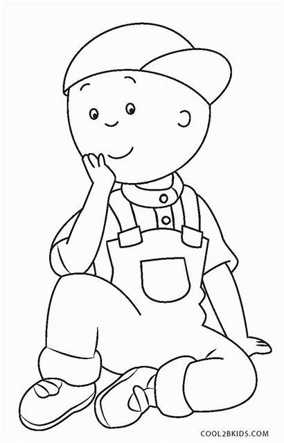 Coloring Caillou Pages Sheets Printable Books Halloween