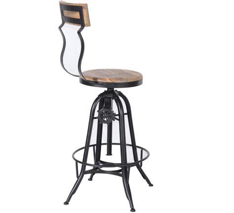 tabouret de bar reglable avec dossier tabouret de bar industriel r 233 glable avec dossier atelier grey 6953