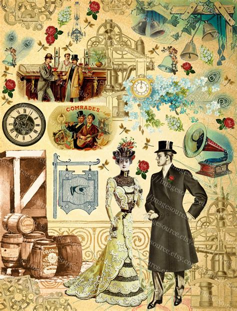 steampunk romance wedding scrapbooking