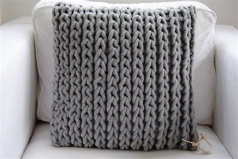 chunky knit pillow chunky knit easy to do as crochet just work in rows using 2202