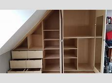 Installing a sloped ceiling wardrobe in 2 minutes Time