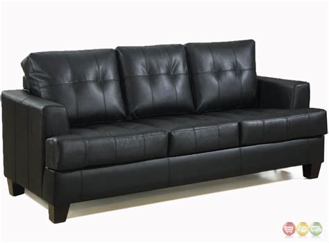 Contemporary Black Leather Sofa by Contemporary Black Leather Sofa Black Leather Button