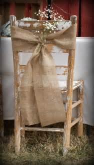 burlap chair sash rustic wedding decor by