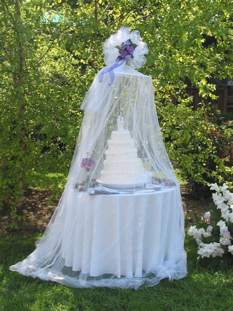 diy wedding ideas protect your outdoor wedding cake