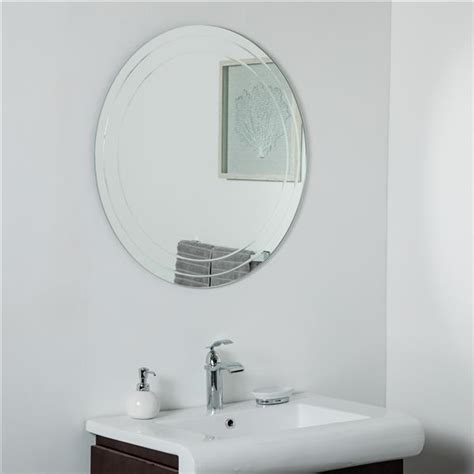 The columbus frameless wall mirror features contemporary design, traditional shape and a console for your necessities. Decor Wonderland Turner Frameless Round Wall Mirror- 30-in SSM9015   Réno-Dépôt