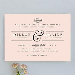 formal ampersand wedding invitations by jennifer wick minted With minted formal wedding invitations