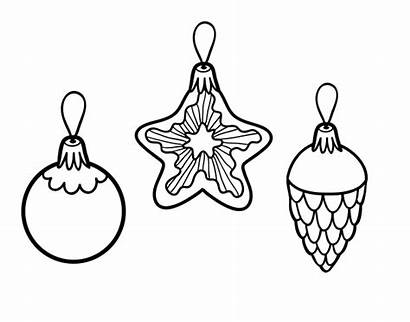 Christmas Decorations Coloring Coloringcrew