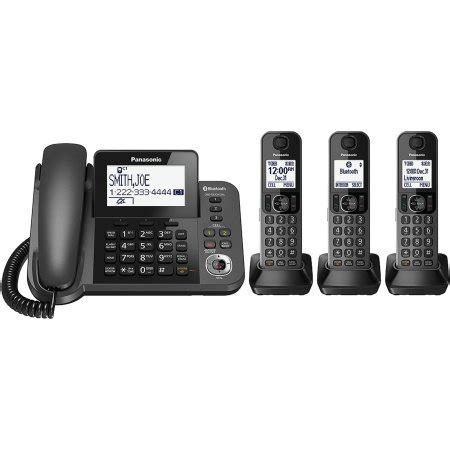 walmart cordless phones with answering machine panasonic link2cell bluetooth cordless phone and answering