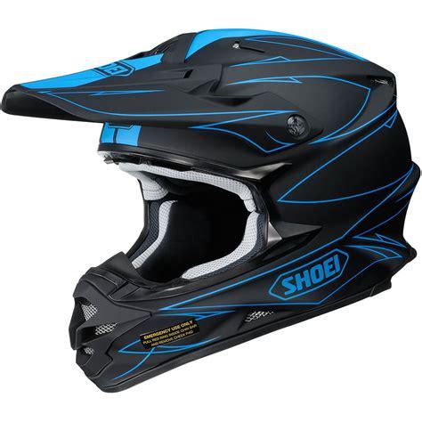 blue motocross helmet new shoei vfx w mx 2017 hectic tc 2 matte black blue