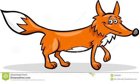 Wild Fox Cartoon Illustration Stock Vector