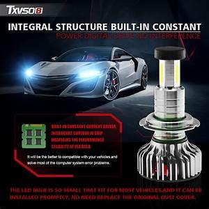 Txvso8 X3 Led Car Headlights Bulbs H7 H8 H9 H11 9012 9006