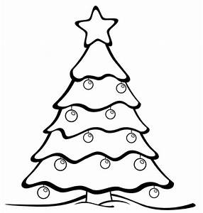 Black And White Clipart Christmas Tree | Free download ...