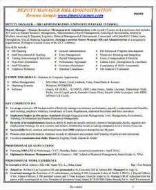 Hr Resume Sle Doc by Hr Executive Resume Doc 28 Images 8 Resume Of Hr